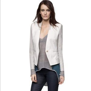 Helmut Lang Quarry Suiting Blazer in Artic White